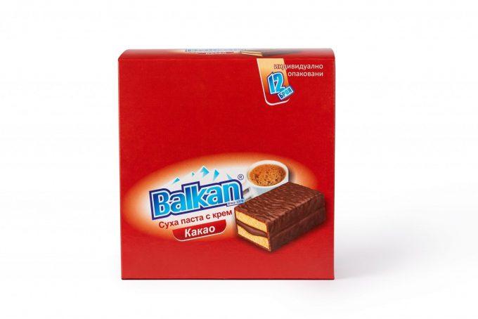 "СУХИ ПАСТИ ""БАЛКАН"" – какао, кутия"
