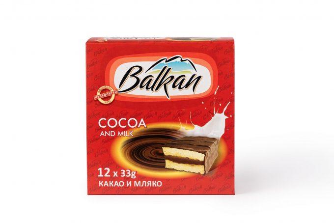 """СУХА ПАСТА """"БАЛКАН"""" – какао с мляко, кутия"""